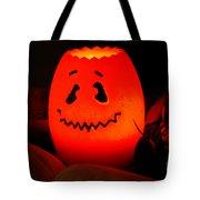 Glowing Pumpkin Tote Bag
