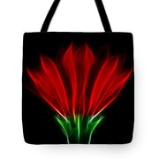 Glowing Red Tote Bag
