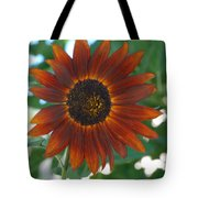Glowing Red Sunflower Tote Bag