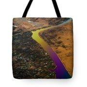 Glowing River. Rainbow Earth Tote Bag