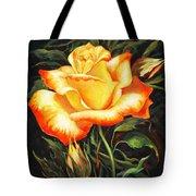 Glowing Rose 2 Tote Bag