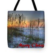 Glowing Sea Oats Sunrise Tote Bag