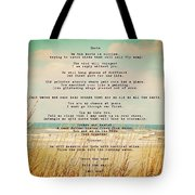 Glowing Soft Surf And Sand With Knots Poem Tote Bag