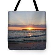 Glowing Sunset Tote Bag by Sandy Keeton