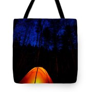 Glowing Tent Tote Bag by Cale Best