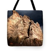 Glowing Under Storm Clouds Tote Bag