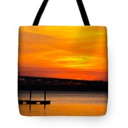 Glowing With Orange Tote Bag