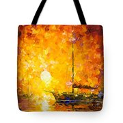 Glows Of Passion - Palette Knife Oil Painting On Canvas By Leonid Afremov Tote Bag