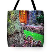 Gnarly Tree With Flowers Tote Bag