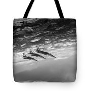 Gnats Inverted Black And White Version Tote Bag