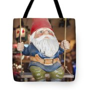 Gnome On A Swing 2 Tote Bag