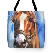 Horse Painting Of California Chrome Go Chrome Tote Bag