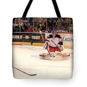 Goalie Protects Tote Bag