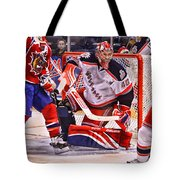 Goaltending Tote Bag by Karol Livote