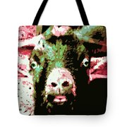 Goat Abstract Tote Bag