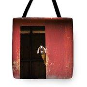 Goat In Barn Tote Bag