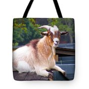 Goat On The Roof Tote Bag