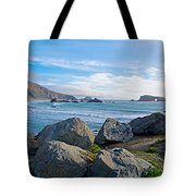 Goat Rock State Beach Near Russian River Outlet Near Jenner-ca Tote Bag
