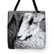 Goat Snuggled In With Family Tote Bag