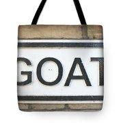 Goat Tote Bag by Tom Gowanlock