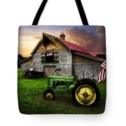 God Bless America Tote Bag by Debra and Dave Vanderlaan