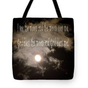 God Bless The Moon Tote Bag
