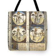 God Creating World In Genesis Tote Bag by Getty Research Institute