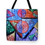 God Is There Tote Bag by Anthony Falbo