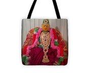 Goddess Lakshmi Idol Tote Bag