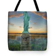 Goddess Of Freedom Tote Bag