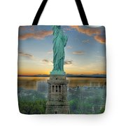 Goddess Of Freedom Tote Bag