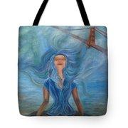 Goddess Of Golden Gate Brigde Tote Bag