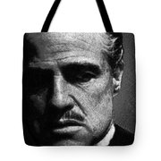 Godfather Marlon Brando Tote Bag by Tony Rubino
