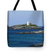 Photographs Of Cornwall Godrevy Lighthouse Tote Bag