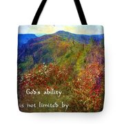 Gods Ability Tote Bag