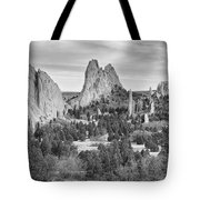Gods Colorado Garden In Black And White    Tote Bag