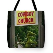 Gods Country Cowboy Church Tote Bag