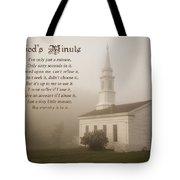 God's Minute Tote Bag