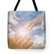 God's Saving Hand Tote Bag