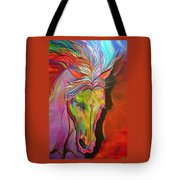 God's War Horse Tote Bag