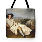 Goethe In The Roman Campagna Tote Bag