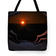 Going Down Oval Image Tote Bag