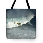 Going Left At Jaws Tote Bag