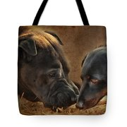 Going Nose To Nose Tote Bag