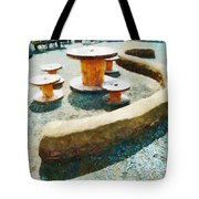 Going Round The Bend Tote Bag