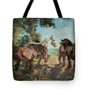 Going To Pasture Tote Bag