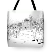 Walking To School Tote Bag
