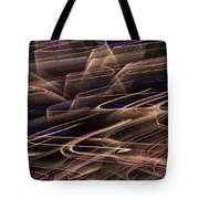 Gold Abstract Lights Tote Bag by Garry Gay