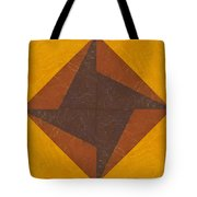 Gold And Brown Pinwheel Tote Bag
