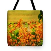 Gold And Orange Landscape Tote Bag